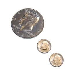 Jumbo Pièce Demi Dollar plus 2 Vrais Demi Dollar
