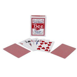 Bee Red playing cards