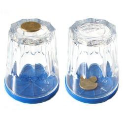 Coin Through Glass Coaster