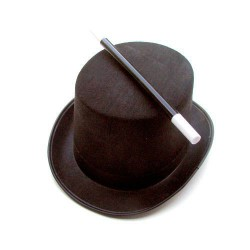 Junior Magicians hat and wand.