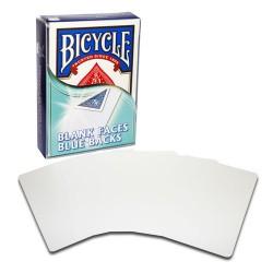 Jeu de 52 cartes Bicycle Faces Blanches, dos Bleus