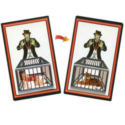 Pocket Lady To Tiger Magic Trick Card